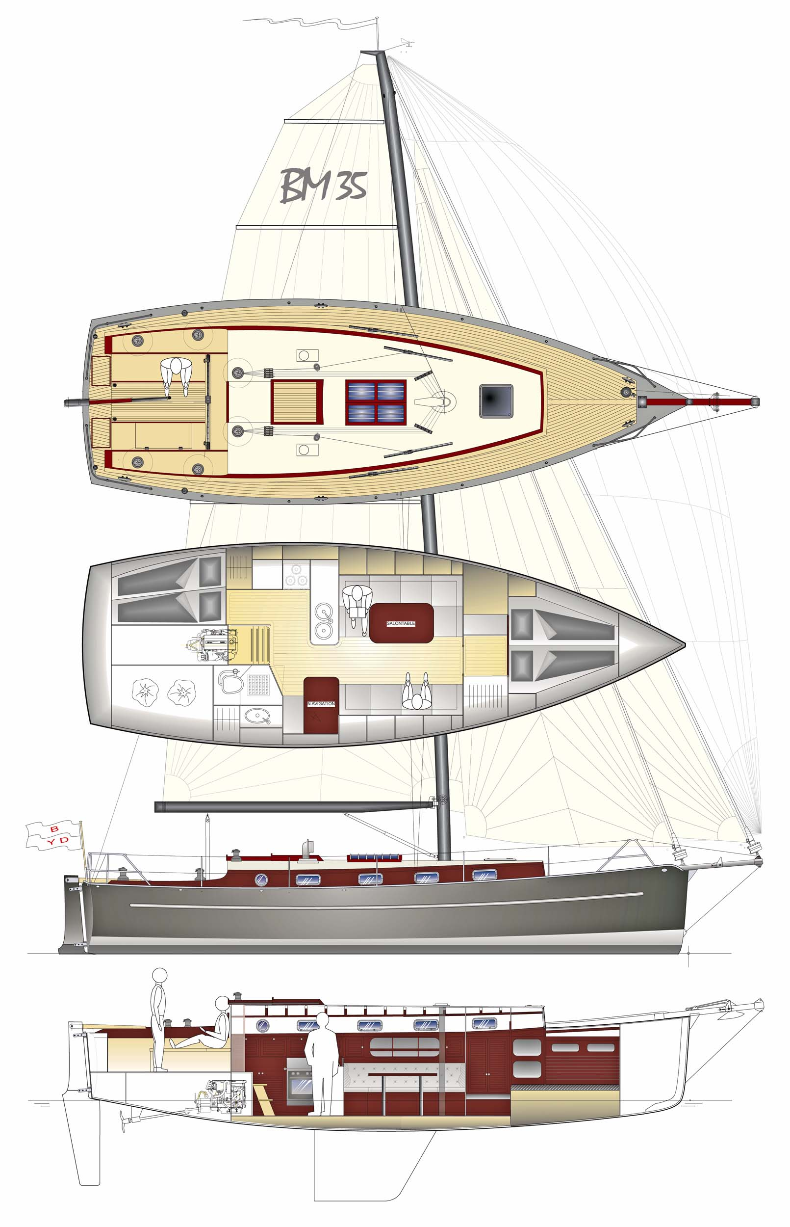 Berckemeyer yacht design plans for modern and classic for Modern classic building design